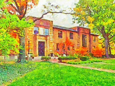 Digital Art - The Ohio State University Faculty Club by Digital Photographic Arts