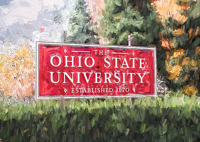 Painting - The Ohio State University by Ike Krieger