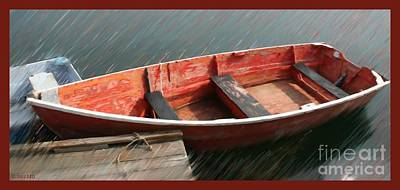 Painting - The Ol Red Boat by Earl Jackson