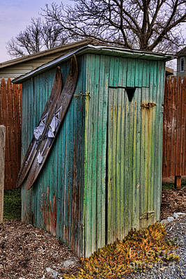 Photograph - The Ol' Shack Outhouse by Lee Dos Santos