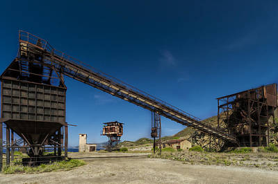 Photograph - The Old Abandoned Mine Machinery by Enrico Pelos