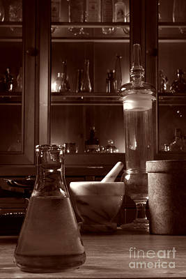 Flasks Photograph - The Old Apothecary Shop by Olivier Le Queinec