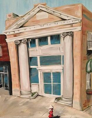 The Old Bank Print by Alicia Tanner
