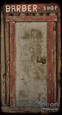 Western Art Digital Art - The Old Barber Shop by Betty LaRue