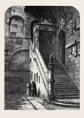 The Old Bargello Florence Art Print by English School