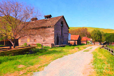 East Bay Digital Art - The Old Barn 5d22271 by Wingsdomain Art and Photography