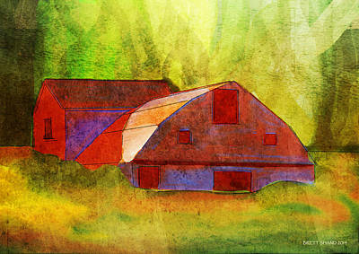 Digital Art - The Old Barn by Brett Shand