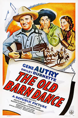 Autry Photograph - The Old Barn Dance, Us Poster by Everett