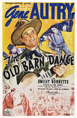 Autry Photograph - The Old Barn Dance, Us Poster, Gene by Everett
