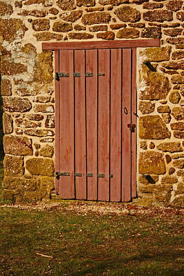 Photograph - The Old Barn Door by Kristia Adams