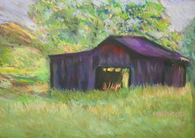 Art Print featuring the photograph The Old Barn I by Shirley Moravec