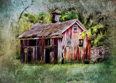Photograph - The Old Barn by Julia Springer