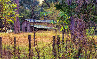 Photograph - The Old Barn by Lewis Mann