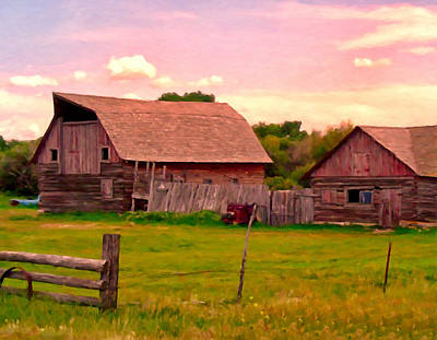 The Old Barn Art Print by Michael Pickett