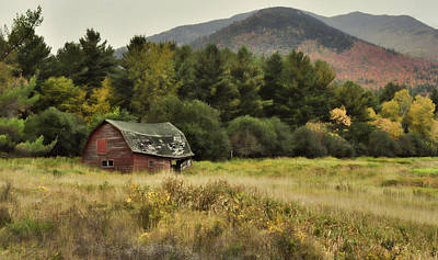Featured Tapestry Designs - The Old Barn by Nancy De Flon