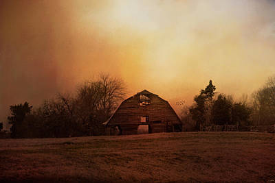 Autumn In The Country Photograph - The Old Barn On A Fall Evening by Jai Johnson