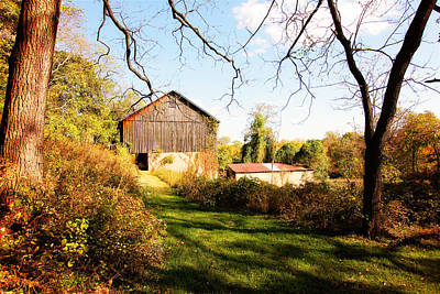 Photograph - The Old Barn by Trina  Ansel