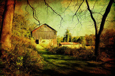 Photograph - The Old Barn With Texture by Trina  Ansel