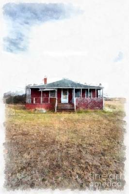 Cape Cod Photograph - The Old Beach Cottage by Edward Fielding