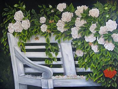 Painting - The Old Bench by Katia Aho
