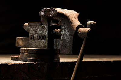 Photograph - The Old Bench Vise by Andrew Pacheco