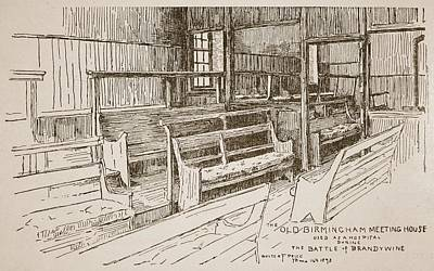 Quaker Drawing - The Old Birmingham Meeting House, 1893 by Walter Price