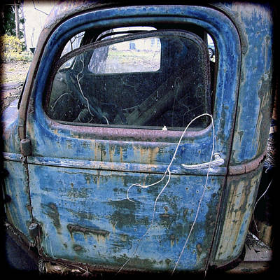 Photograph - The Old Blue Chevy #2 by Louise Kumpf