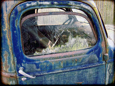 Photograph - The Old Blue Chevy by Louise Kumpf
