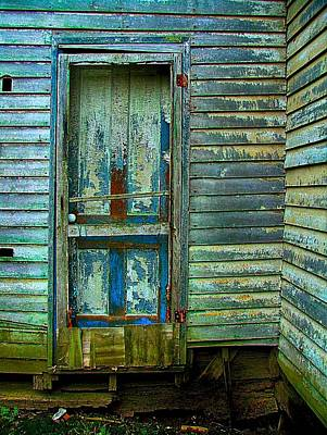 Julie Riker Dant Photograph - The Old Blue Door by Julie Dant
