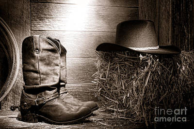 Lariat Photograph - The Old Boots by Olivier Le Queinec
