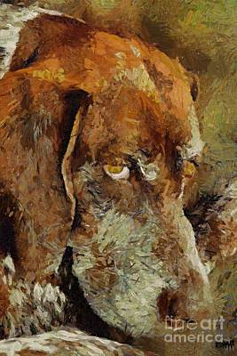 Dog Painting - The Old Boy by Dragica  Micki Fortuna
