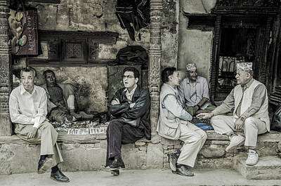 Photograph - The Old Boys Club by Valerie Rosen