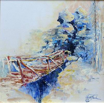 Painting - The Old Bridge by Christa Friedl