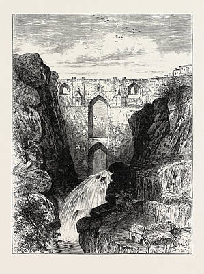 The Old Bridge Of Ronda Headquarters Of The Andalusian Art Print