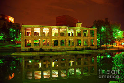 The Old Carriage House Building In Downtown Greenville Sc Art Print