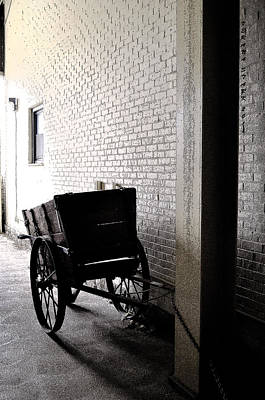 Art Print featuring the photograph The Old Cart From The Series View Of An Old Railroad by Verana Stark