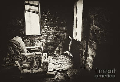 Photograph - The Old Chair In A Cold Farmhouse by Wilma  Birdwell