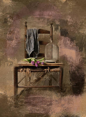 Photograph - The Old Chair by Robin-Lee Vieira