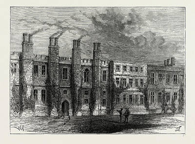 The Old Chelsea Manor House Art Print by Litz Collection
