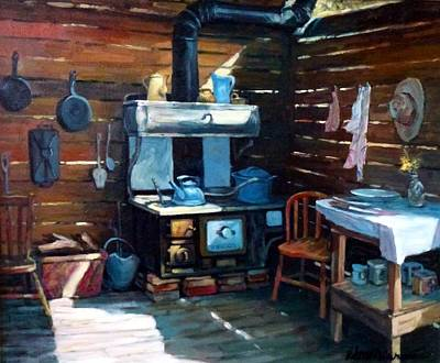The Old Chinook Art Print by Richard McDiarmid