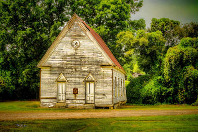 Photograph - Rural - Rustic - Church - The Old Church 2 by Barry Jones