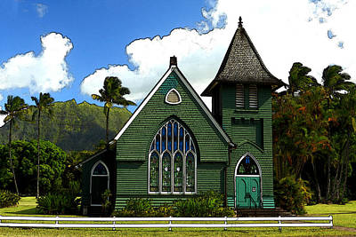 Photograph - The Old Church In Hanalei by James Eddy
