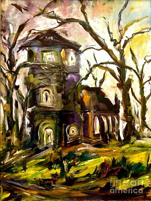 The Old Church Art Print by Michelle Dommer