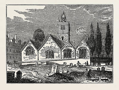 Old Churches Drawing - The Old Church Of St by Litz Collection