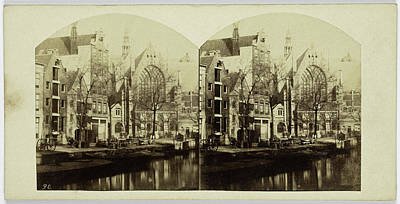 Old Churches Drawing - The Old Church Square In Amsterdam, The Netherlands by Artokoloro