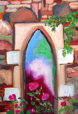 Fashion Paintings - The Old Church Window by Marita McVeigh
