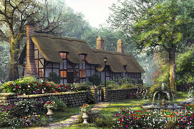 Pathways Digital Art - The Old Cottage by Dominic Davison
