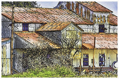 Shed Digital Art - The Old Cotton Barn by Barry Jones