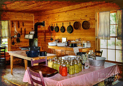 Photograph - The Old Country Kitchen by Kathy Baccari