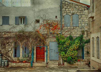 Photograph - The Old Courtyard by Uri Baruch